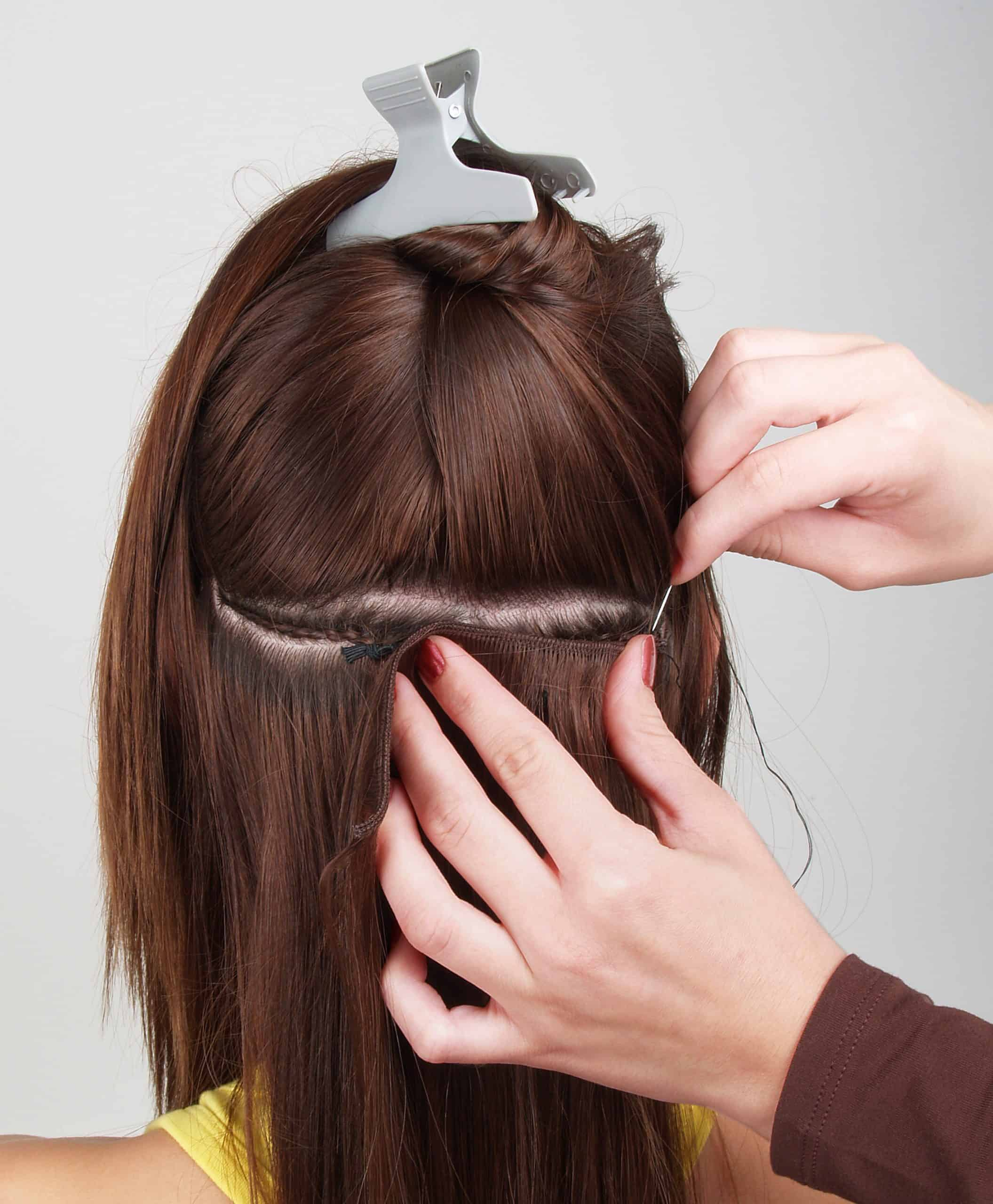 Sew-in-wefted-hair-extensions